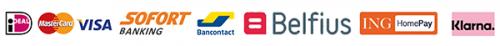 Logo's betaal mogelijkheden-met klarna